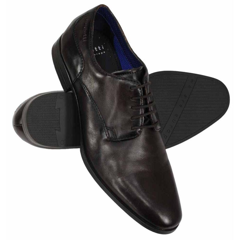 51346fa2e48c6 Bugatti Zenobia Dark Brown Leather Shoe