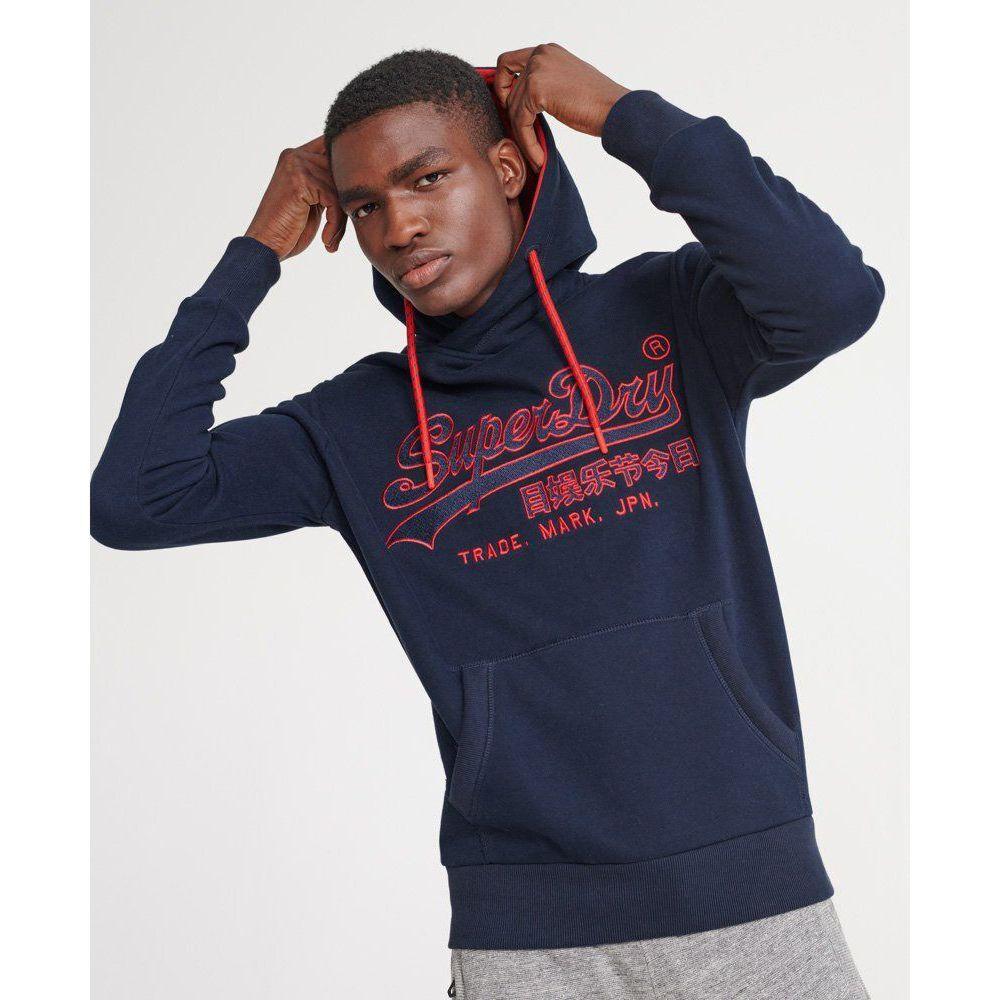 Sweatshirt Superdry Mens Zip Front Hoodie /'Downhill Racer Applique Zip Hood/'